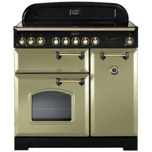 Rangemaster CDL90ECOG/B Classic Deluxe 90cm Ceramic Range Cooker 114730 – OLIVE GREEN