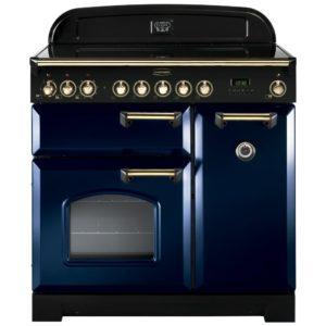 Rangemaster CDL90ECRB/B Classic Deluxe 90cm Ceramic Range Cooker 114260 – BLUE
