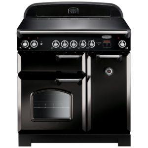 Rangemaster CLA90ECBL/C Classic 90cm Ceramic Range Cooker 117420 – BLACK