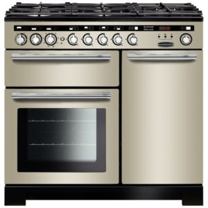 Rangemaster EDL100DFFIV/C Encore 100cm Deluxe Dual Fuel Range Cooker 117240 – IVORY