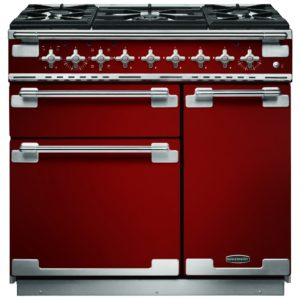 Rangemaster ELS90DFFRD Elise 90cm Dual Fuel Range Cooker 108420 – RED
