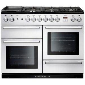 Rangemaster NEX110DFFWH/C Nexus 110cm Dual Fuel Range Cooker 106110 – WHITE
