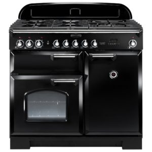Rangemaster CDL100DFFBL/C Classic Deluxe 100cm Dual Fuel Range Cooker 92490 – BLACK