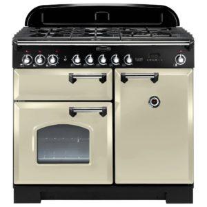 Rangemaster CDL100DFFCR/C Classic Deluxe 100cm Dual Fuel Range Cooker 92500 – CREAM