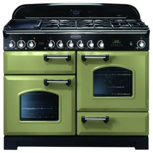 Rangemaster CDL110DFFOG/C Classic Deluxe 110cm Dual Fuel Range Cooker 100930 – OLIVE GREEN
