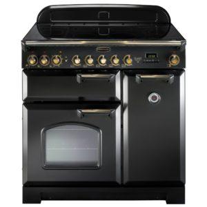 Rangemaster CDL90ECBL/B Classic Deluxe 90cm Ceramic Range Cooker 81620 – BLACK