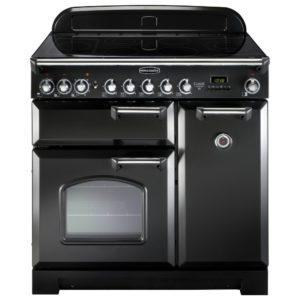 Rangemaster CDL90ECBL/C Classic Deluxe 90cm Ceramic Range Cooker 81630 – BLACK