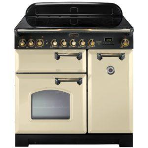 Rangemaster CDL90ECCR/B Classic Deluxe 90cm Ceramic Range Cooker 81650 – CREAM