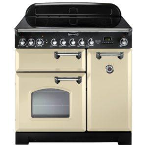 Rangemaster CDL90ECCR/C Classic Deluxe 90cm Ceramic Range Cooker 81640 – CREAM