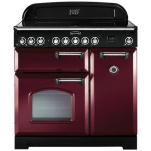 Rangemaster CDL90EICY/B Classic Deluxe 90cm Induction Range Cooker 90290 – CRANBERRY