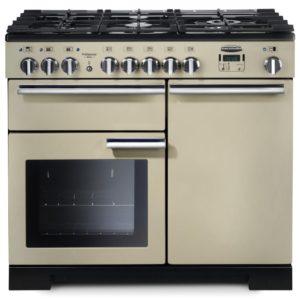 Rangemaster PDL100DFFCR/C Professional Deluxe 100cm Dual Fuel Range Cooker 97570 – CREAM