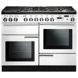 Rangemaster PDL110DFFWH/C Professional Deluxe 110cm Dual Fuel Range Cooker 98940 – WHITE