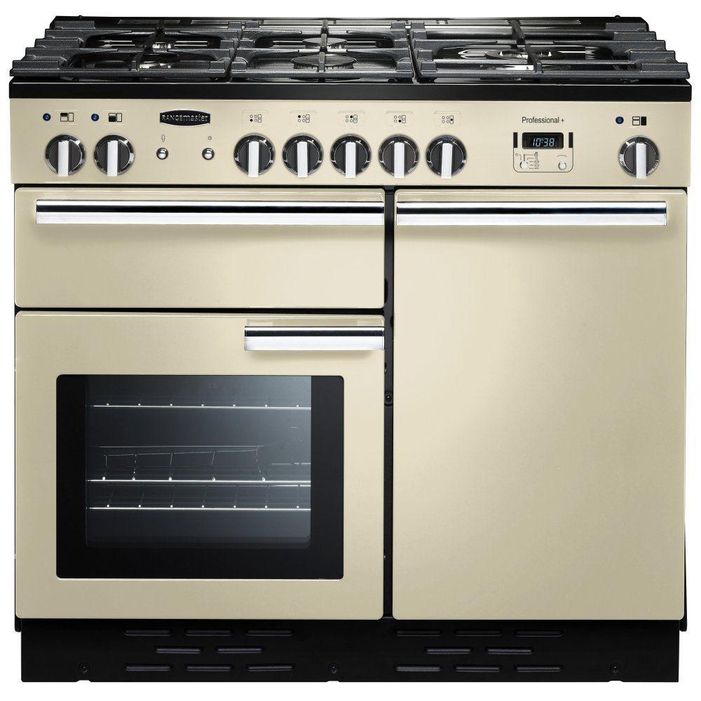Rangemaster PROP100NGFCR/C Professional Plus 100cm Gas Range Cooker 111790 - CREAM