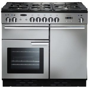 Rangemaster PROP100DFFSS/C Professional Plus 100cm Dual Fuel Range Cooker 92590 – STAINLESS STEEL
