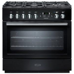 Rangemaster PROP90FXDFFGB/C Professional Plus 90cm Dual Fuel Range Cooker 91130 – BLACK