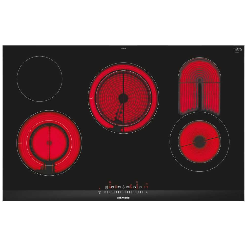 Siemens et875fcp1d Built-in Ceramic Hob Black Hob–Plate (Built-in, Ceramic Hob, Glass and Ceramic, Black, Glass, 1200W)