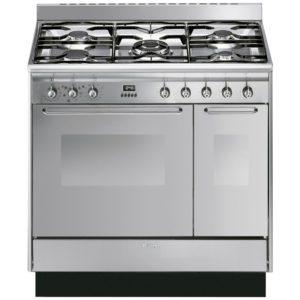 Smeg CC92MX9 90cm Cucina Dual Fuel Range Cooker – STAINLESS STEEL