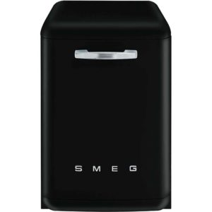 Smeg DF6FABBL 60cm Freestanding Retro Dishwasher – BLACK