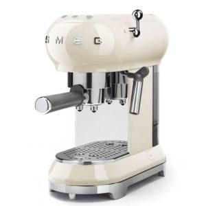 Smeg ECF01CRUK Freestanding Retro Espresso Coffee Machine – CREAM