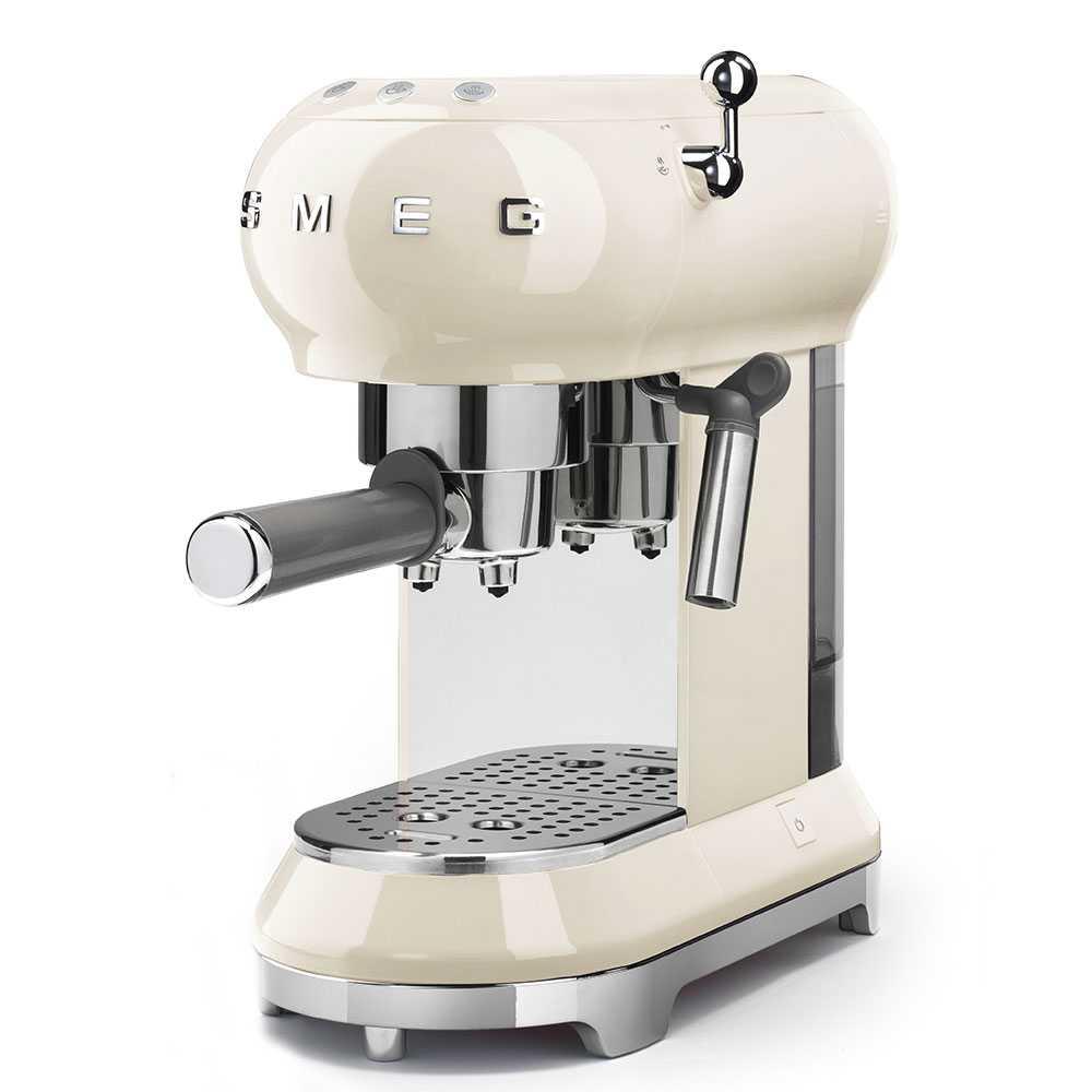 Smeg ECF01CRUK Freestanding Retro Espresso Coffee Machine - CREAM