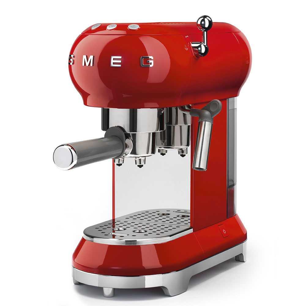 Smeg ECF01RDUK Freestanding Retro Espresso Coffee Machine - RED
