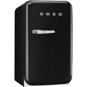 Smeg FAB5RBL Black Retro Mini Bar Fridge Right Hand Hinge – BLACK