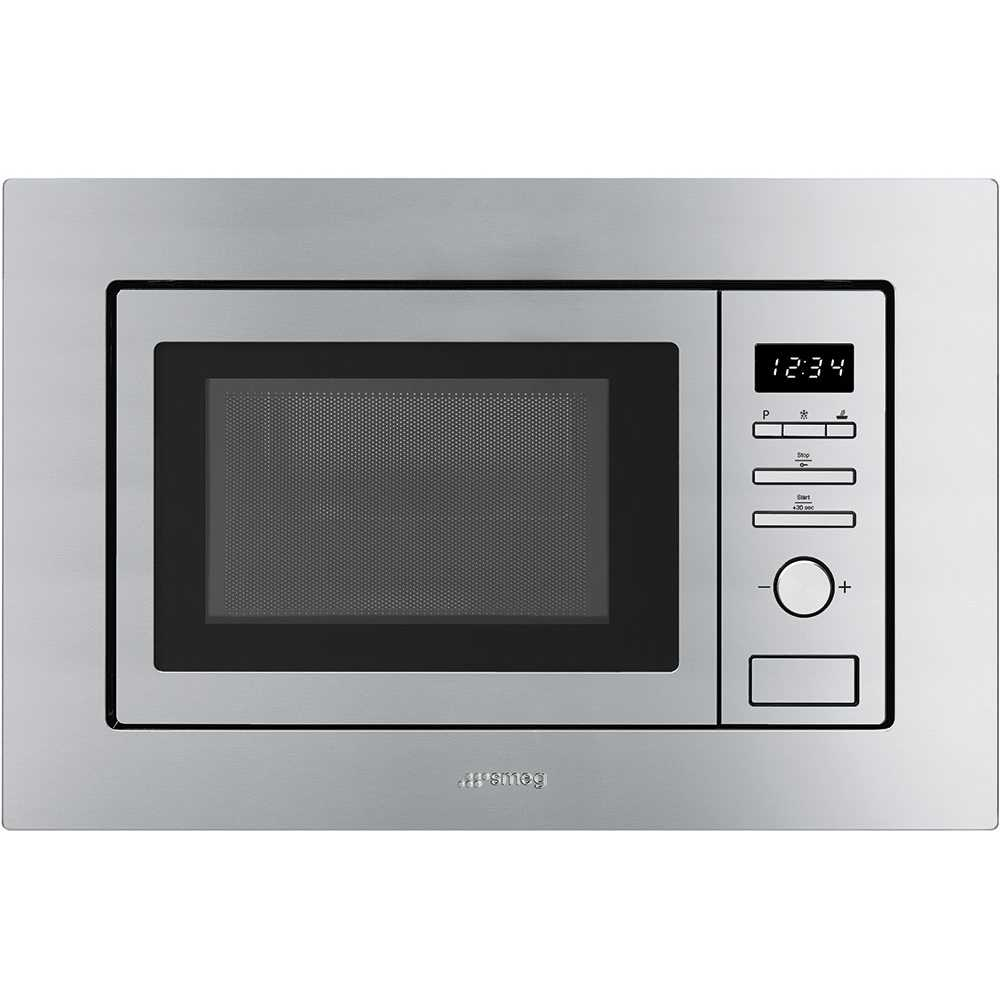Smeg FMI017X Classic Built In Microwave & Grill For Wall Unit - STAINLESS STEEL
