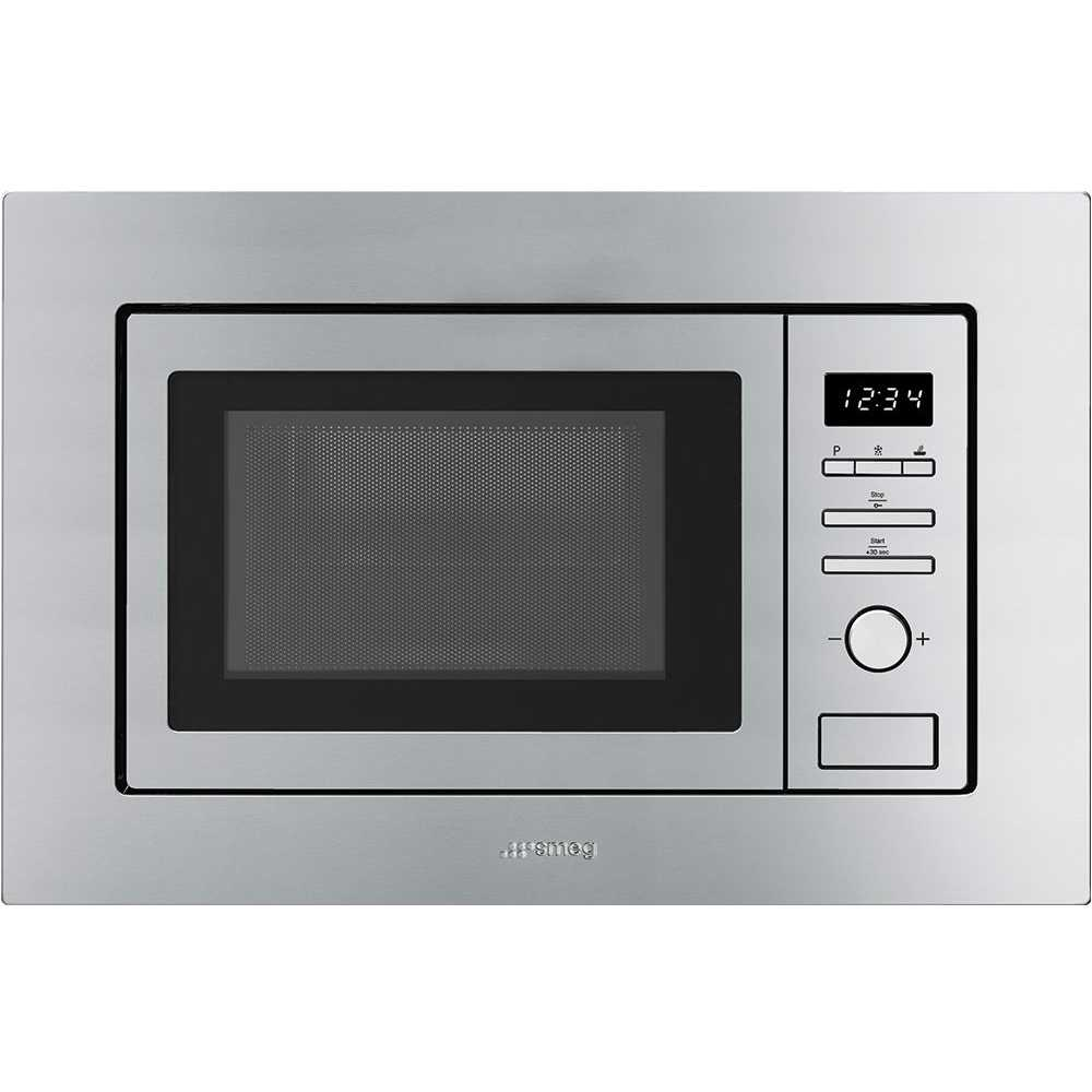 Smeg FMI020X Classic Built In Microwave & Grill For Wall Unit - STAINLESS STEEL