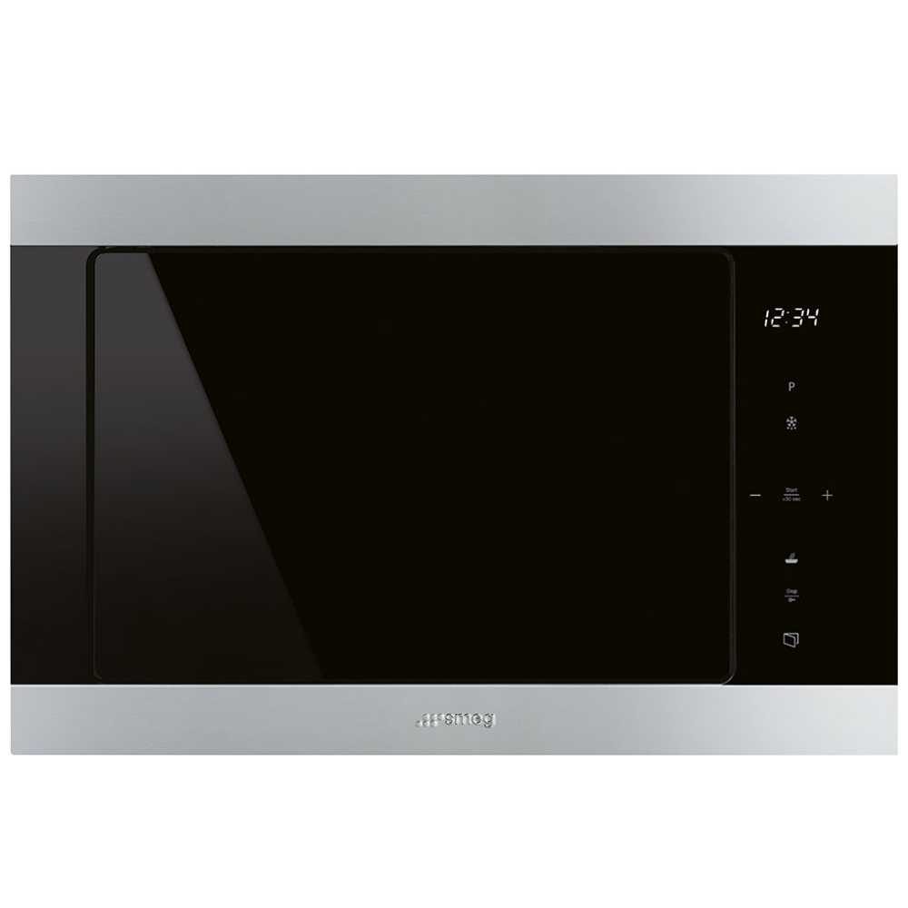 Smeg FMI325X Classic Built In Microwave & Grill For Tall Housing - STAINLESS STEEL
