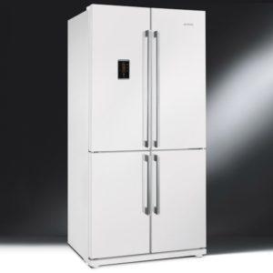 Smeg FQ60BPE French Style Four Door Fridge Freezer Non Ice & Water – WHITE