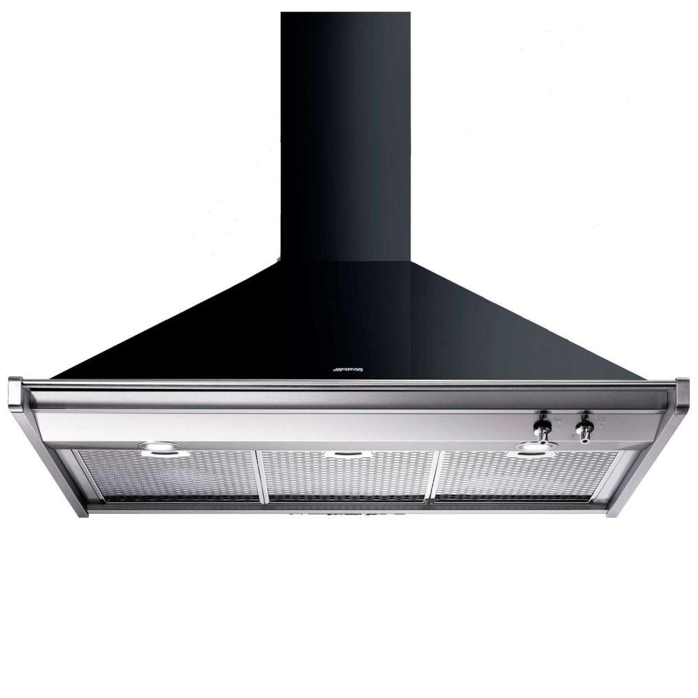 Smeg Classica KD100NE Cooker Hood Chimney Opera 3 Speeds 100cm Black