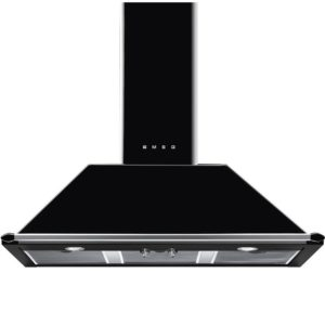 Smeg KT100BLE 100cm Victoria Chimney Hood With Rail – BLACK