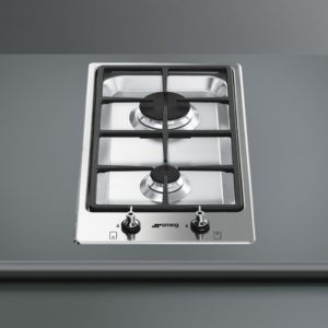 Smeg PGF32G Ultra Low Profile Modular 2 Burner Gas Hob – STAINLESS STEEL