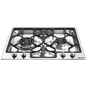 Smeg PGF64-4 60cm Classic 4 Burner Ultra Low Profile Gas Hob – STAINLESS STEEL