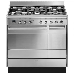 Smeg SUK92MX9 90cm Dual Fuel Range Cooker – STAINLESS STEEL