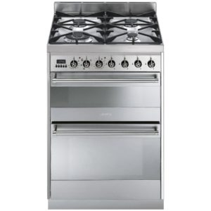 Smeg SY62MX8 60cm Symphony Freestanding Dual Fuel Cooker – STAINLESS STEEL