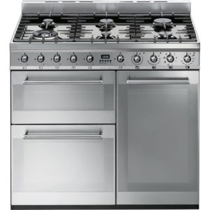 Smeg SY93 90cm Symphony Dual Fuel Range Cooker – STAINLESS STEEL
