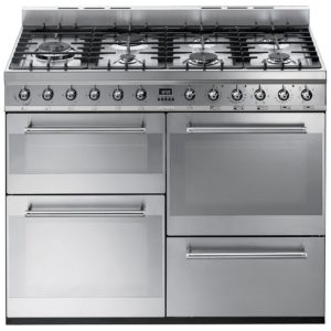 Smeg SYD4110 110cm Symphony Dual Fuel Range Cooker – STAINLESS STEEL