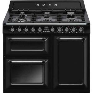 Smeg TR103BL 100cm Victoria Dual Fuel Range Cooker – BLACK