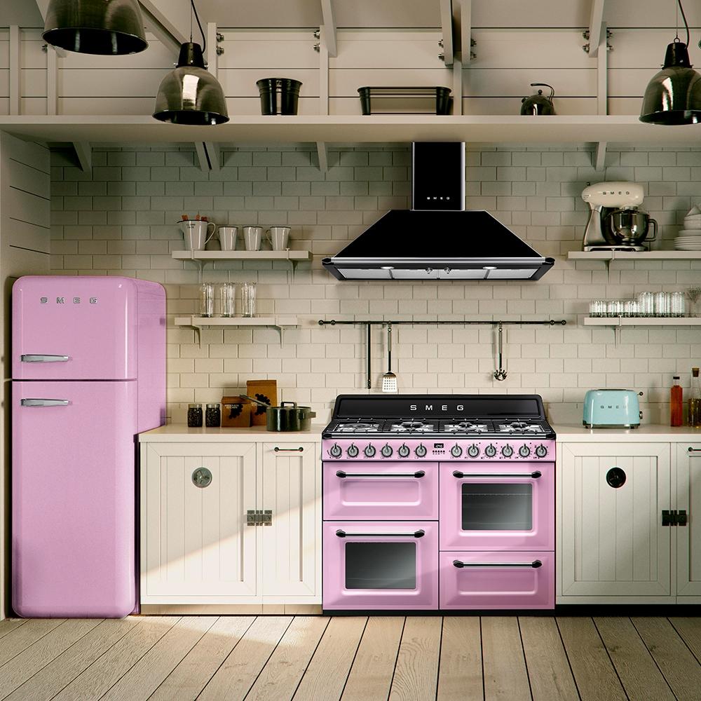 Smeg Tr4110ro 110cm Victoria Dual Fuel Range Cooker Pink