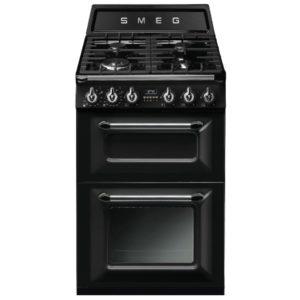 Smeg TR62BL 60cm Victoria Freestanding Dual Fuel Cooker – BLACK