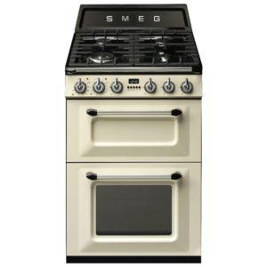 Smeg TR62P 60cm Victoria Freestanding Dual Fuel Cooker – CREAM