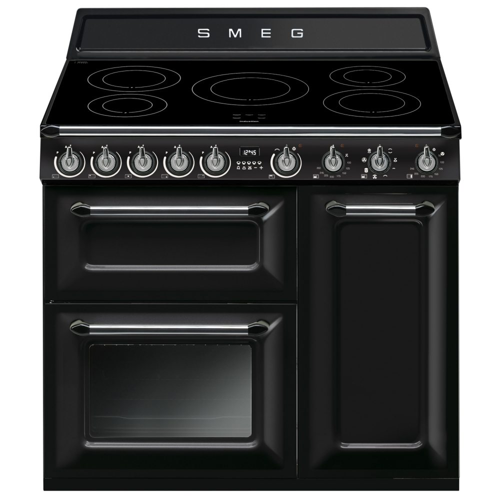 Smeg Victoria Aesthetic Freestanding Induction Hob Black–Kitchen (Freestanding, Black, Rotary, Front, Induction Plate, Small)