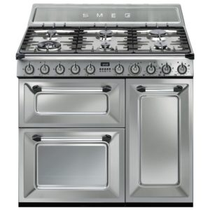 Smeg TR93X 90cm Victoria Dual Fuel Range Cooker – STAINLESS STEEL
