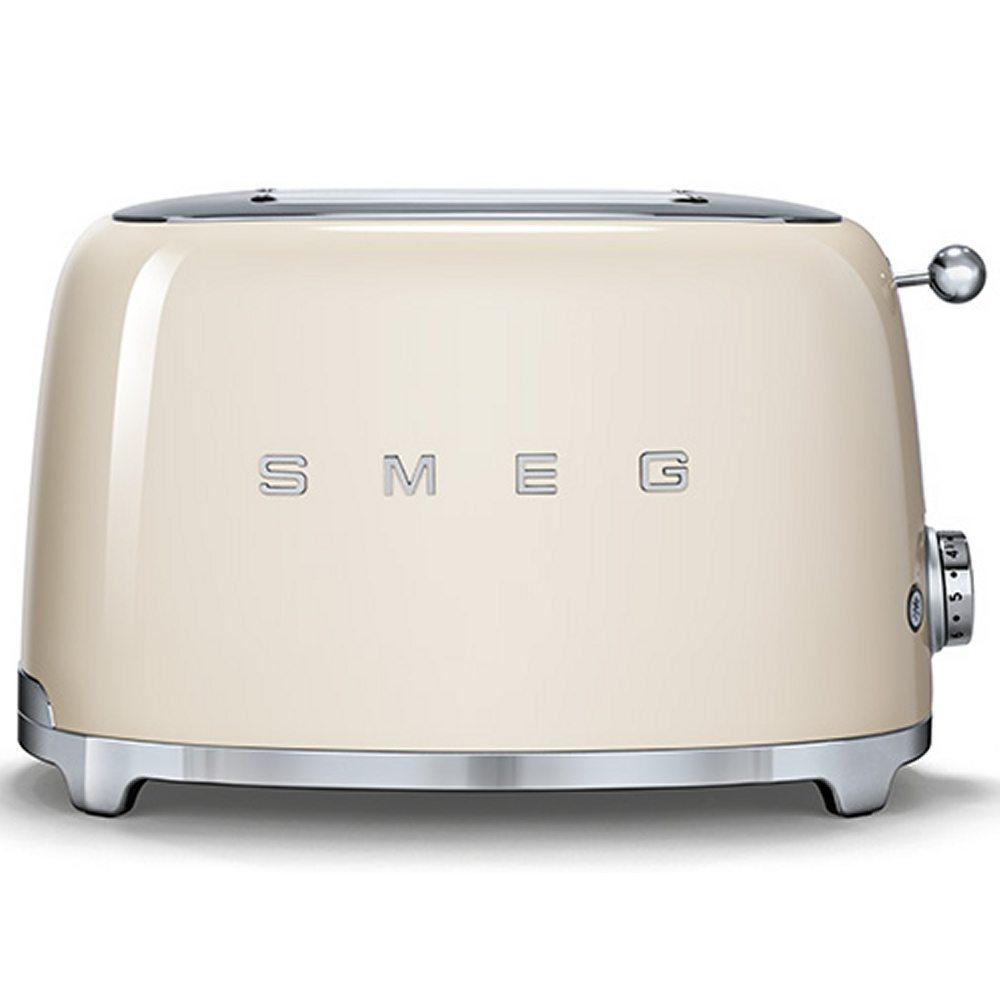 Smeg TSF01CRUK Retro 2 Slice Toaster - CREAM