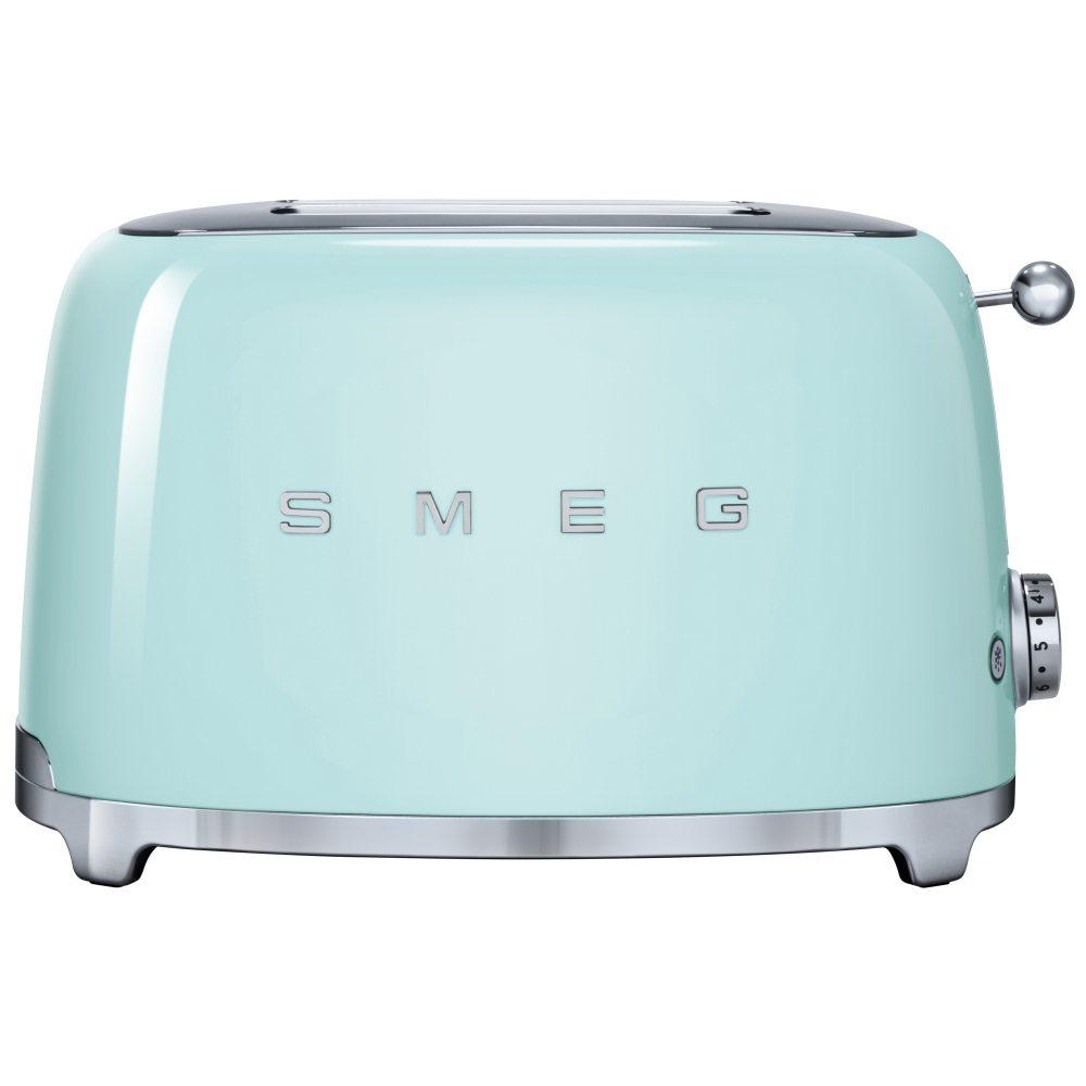 Smeg TSF01PGUK Retro 2 Slice Toaster - PASTEL GREEN