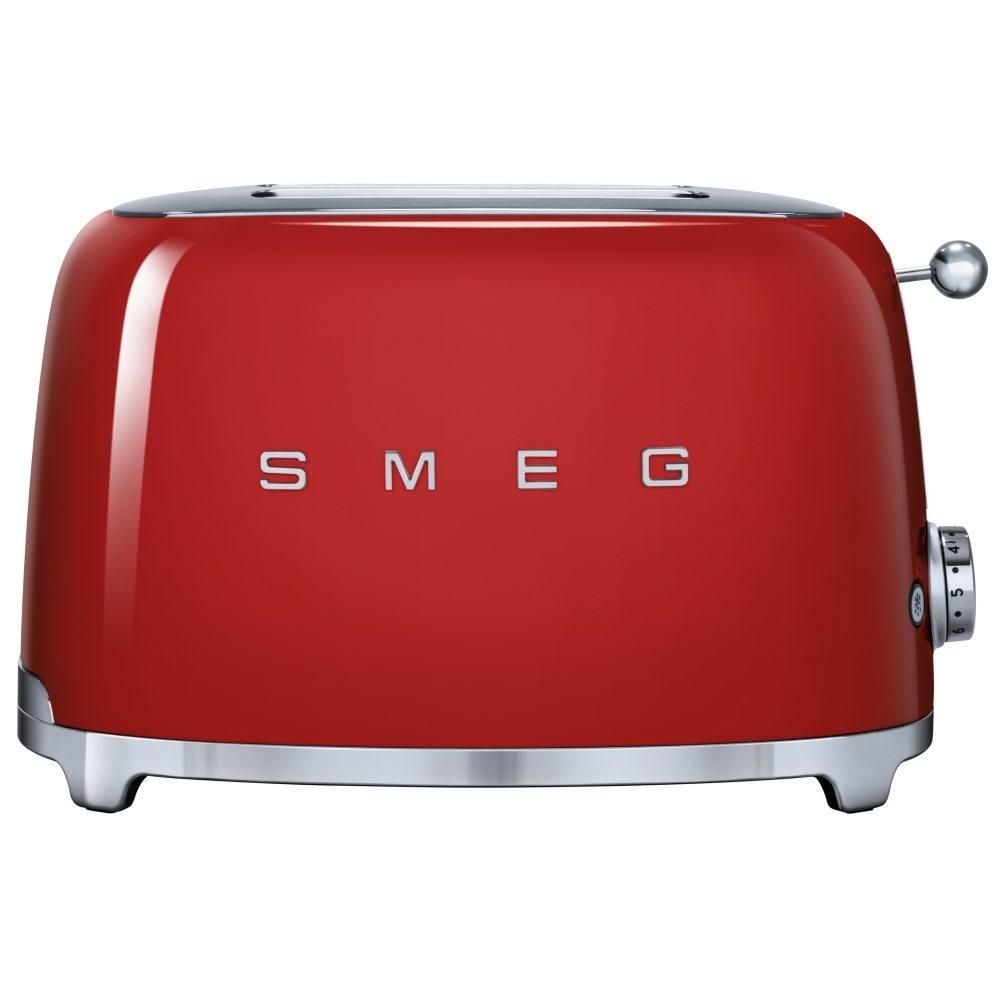 Smeg TSF01RDUK Retro 2 Slice Toaster - RED