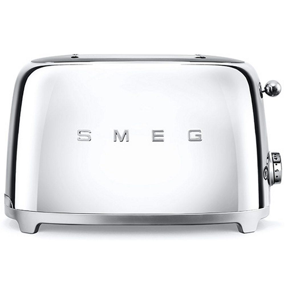 Smeg TSF01SSUK Retro 2 Slice Toaster - CHROME