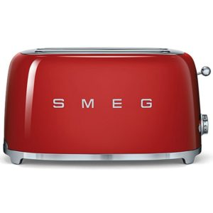 Smeg TSF02RDUK Retro 4 Slice Toaster – RED