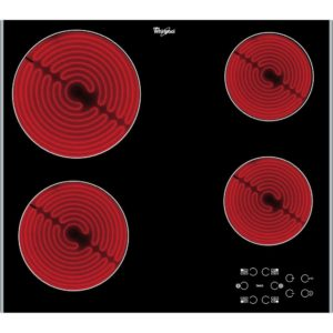 Whirlpool AKT8090LX 58cm 4 Zone Ceramic Hob – STAINLESS STEEL